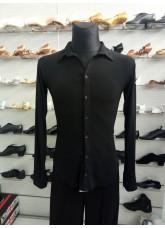 DANCEME Рубашка мужская R710 масло, черный