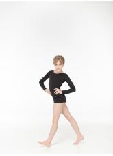 Dance Me Полукомбинезон детский длинный рукав PK278DR, хлопок, черный