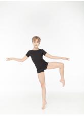 Dance Me Полукомбинезон детский короткий рукав PK278KR, хлопок, черный