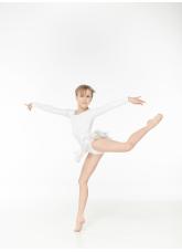 """Dance Me Юбка-хитон детская """"Кокетка - Солнце"""" UH57, белый"""