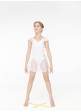 Dance Me Юбка-хитон детская UH54-3, сетка, белый