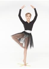 Dance Me Болеро детское рукав длинный B95DR, хлопок, черный