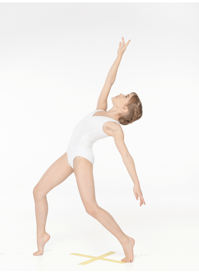 Dance Me Купальник детский K484, майка, хлопок, белый