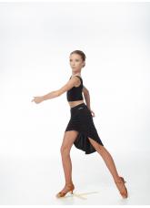Юбка Латина UL722-14 Dance.me, Украина, Масло, Черный