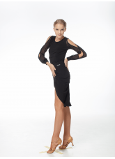Dance Me Блуза женская BL530DR, масло / сетка, черный