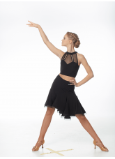 Dance.me Топ женский ТР499, масло/сетка, черный