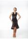 Юбка Латина UL413-11-14# Dance.me, Украина, Масло+сетка+гипюр, Черный/Телесный