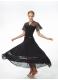 Dance Me Юбка для стандарта US100# женская, масло / сетка, черный