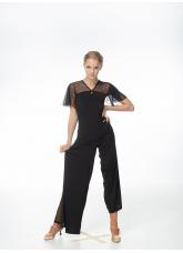 Dance Me Блуза женская BL601, масло / сетка, черный