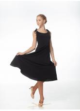 Платье женское для стандарта PS704# Dance Me,  Масло+кринолин, Черный