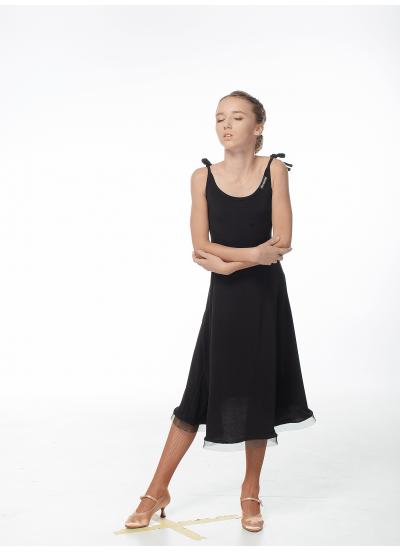 Платье для девочки PS704# Dance Me, масло+кринолин, Черный