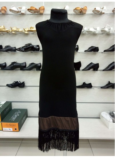 Платье детское Латина PL220-17 Dance.me, Украина, масло+сетка, черный