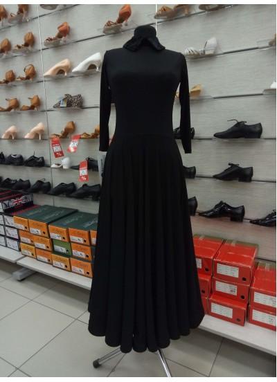 DANCEME Платье женское PS732#, масло+бархат+кренолин, черный