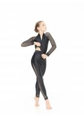 Dance Me Лосины L809-17 детские, бифлекс, сетка, чорный