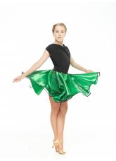 Dance Me Юбка UL180# детская, атлас, фатин, чорный, зеленый