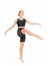Dance Me Шорты удлиненные SH813 женские, бифлекс, сетка, чорный