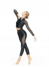 Dance Me Лосины L808-17 женские, бифлекс, сетка, чорный