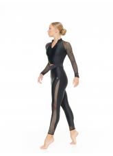 Dance Me Лосины L809-17 женские, бифлекс, сетка, чорный
