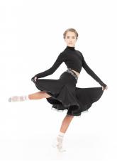 Dance Me Юбка для латины UL692-14# детская, масло/криналин, черный