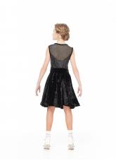 Dance Me Блуза BL221-13C-8 детская, бархат/сетка, черный