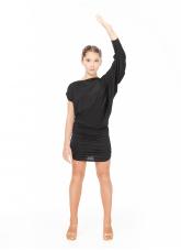 Dance Me Платье для латины PL326 для девочки, вискоза, черный
