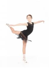 Dance Me Платье PL220-17 детское, масло/сетка спорт, черный