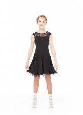 Dance Me Платье PL334-11# детское, масло/гипюр/криналин, черный