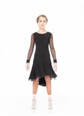 Dance Me Платье PL204-6# детское, масло/сетка/кринолин, черный
