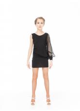 Dance Me Платье PL240-18 детское, масло/крупная сетка , черный