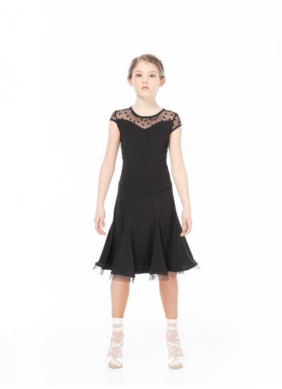 Dance Me Платье PL422-6# детское, масло/сетка/кринолин, черный