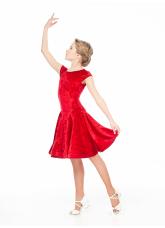 Dance Me Бейсик BS509-13С# детский, бархат/криналин, красный
