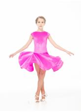 Dance Me Бейсик BS509-13V# детский, бархат итальянский/криналин, фуксия