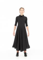 Dance Me Платье PS732# детское, бархат/криналин, черный