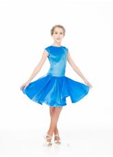 Dance Me Бейсик BS509-13V# детский, бархат итальянский/криналин, светло-голубой