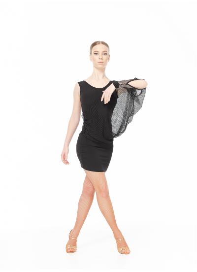 Dance Me ПлатьеPL240-18 женское, масло/крупная сетка , черный