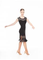 Платье женское Латина PL220-17 Dance.me, Украина, масло сетка, черный