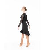 Dance Me ПлатьеPL731-11# женское, масло/гипюр/ криналин, черный