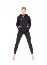 Dance Me Худи XD793 женские, плотный хлопок с высоким начесом , черный