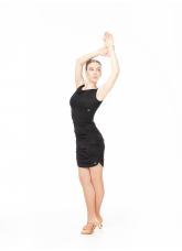 Dance Me Юбка для латины UL761-14 женская, вискоза, черный