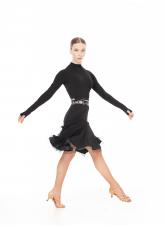 Dance Me Юбка для латины UL692-14# женская, масло/криналин, черный