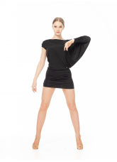 Dance Me Платье для латины PL326 женское, вискоза, черный