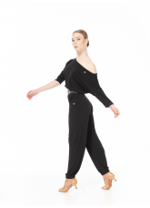 Dance Me Брюки латина BRL751 женские, масло, черный