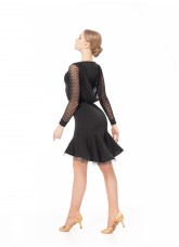 Dance Me ПлатьеPL731-19# женское, масло/сетка в сердечки/ криналин, черный