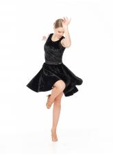Dance Me Юбка для латины UL402-13С-14# женская, бархат, черный