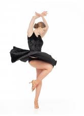 Dance Me Блуза BL221-13C-8 женская, бархат/сетка, черный