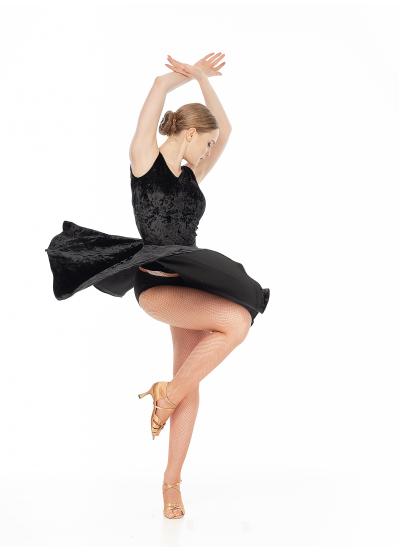 Dance Me БлузаBL221-13C-8 женская, бархат/сетка, черный