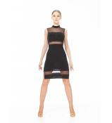 Dance Me Платье PL436 женское, масло/сетка, черный