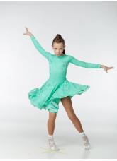 Dance Me Рейтинговые платья / Бейсик 269-402-11, мятный, бифлекс+гипюр