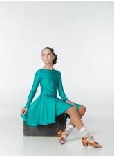 Рейтинговое платье 420 ДР-К Dance.Me, бифлекс, зеленый