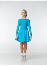 Рейтинговое платье 420-1 ДР-К-Кр Dance.Me, бифлекс, лазуревый